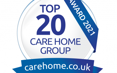 Woodlands and Hill Brow Group awarded and recognised as being in the Top 20 Care Home Groups nationally